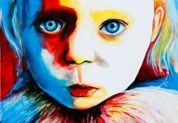 Julinka - akryl na kartonu - inspirováno Julií Horáčkovou