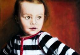 Rebečka - akryl a olej na plátně - obraz podle fotky