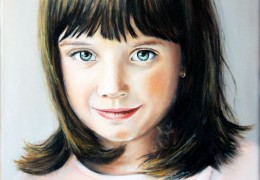 Anička - akryl a olej na plátně - obraz podle fotky