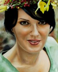 Obraz podle fotky - akryl a olej na plátně
