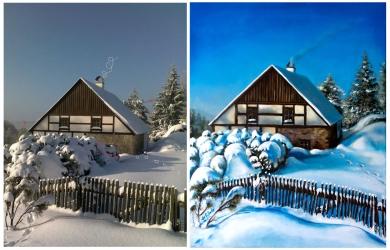 obrazy-128-dům-sníh-DSC_0475-porovnání