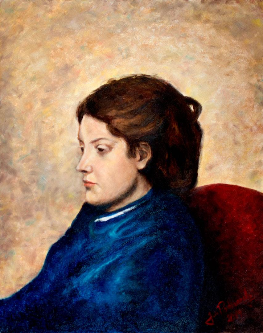 Olej na plátně - 50 x 40 cm - Originál a předloha: Edgar Degas