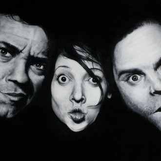 Já, Libor, Evey - 100x70 cm - olej na plátně PRODÁNO