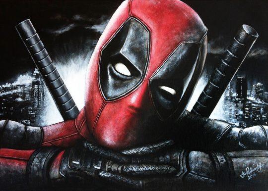 Deadpool - 70x50cm akryl na plátně Cena: 5000kč