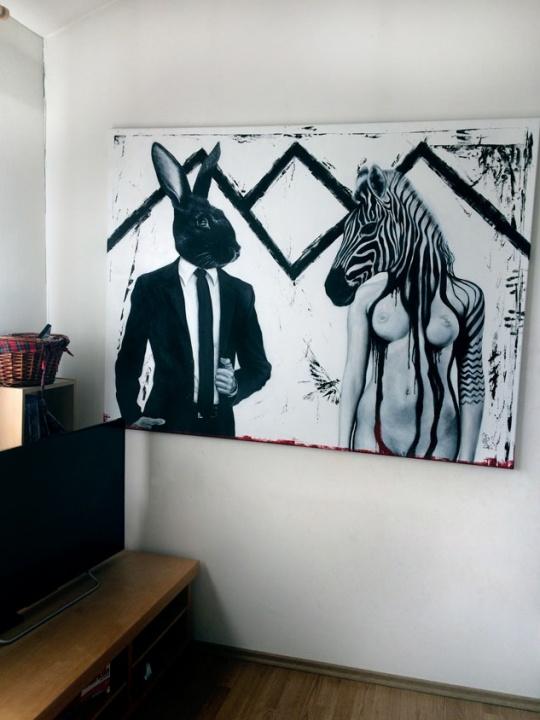 Zebra-160×120cm-akryl na platně