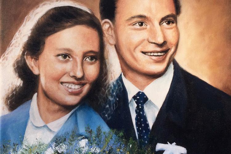 60. let výročí své svatby 33x33cm