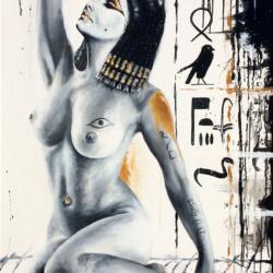 Kleopatra Technika: Akryl na plátně Rozměr 70 × 120 cm