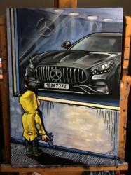 Mercedes-obraz-70x50cm-akryl na plátně